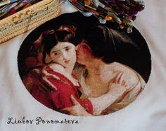 Unique highly artistic cross-stitch The Kiss от LiubovPonomareva