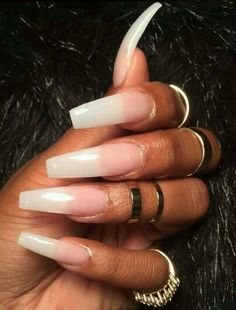 39 Cute Long Coffin Nails for Perfect Women Style 2019 – Long Nails – Long Nail Art Designs Coffin Nails Long, Long Acrylic Nails, Gorgeous Nails, Pretty Nails, Pretty Toes, Hair And Nails, My Nails, Nagel Hacks, Dope Nails