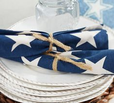 Dress your table with stars for the 4th.