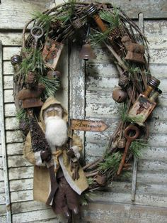 Rustic style Christmas ~ Love this idea