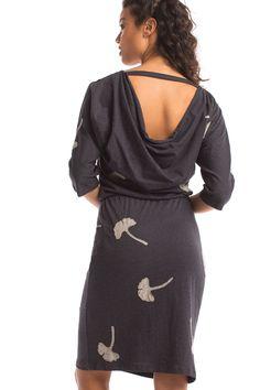 Ginkgo Gallery Dress in Ink