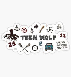 Icônes de Teen Wolf Sticker