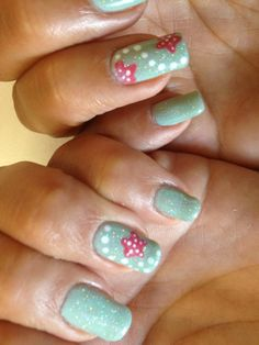 Beach Nails Starfish Nails  Gel Polish and Regular Polish on Natural Nails By Jade Phuong's Nail Artist Team at Blackhawk Nail and Spa