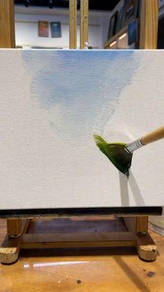 Canvas Painting Tutorials, Diy Canvas Art, Diy Painting, Painting Videos, Watercolor Art Lessons, Acrylic Painting Lessons, Acrylic Painting Canvas, Art Painting Gallery, Art Tutorials