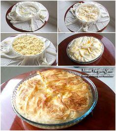 Patatesli Tepsi Böreği Tarifi Pie, Desserts, Food, Torte, Tailgate Desserts, Cake, Deserts, Fruit Cakes, Essen