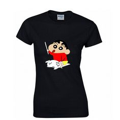Crayon Shin-chan Fashion Print 100% Cotton Women's T-shirt