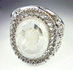 Vintage Bracelet Whiting and Davis Cameo Reverse by zephyrvintage, $72.00
