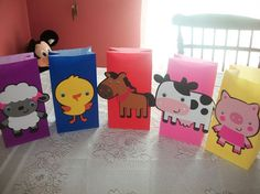 Cute Farm Animal Party Bags by Onecraftyhippo on Etsy, $2.00