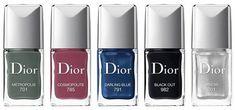 Dior Le Vernis  // Dior Cosmopolite Fall 2015 Collection - 701 Metropolis - 785 Cosmpolite - 791 Darling Blue - 982 Black Out - 001 Miroir