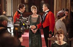 Zoe Boyle as Lavinia Swire in the second series of the ITV1 period drama, Downton Abbey. Finally found a better shot of this dress!