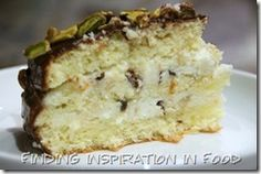 Chocolate cannoli cake.