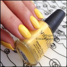 CND vinylux Bicycle Yellow paradise summer 2014