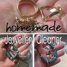 homemade jewellery cleaner using salt, bicarb, aluminium foil and hot water