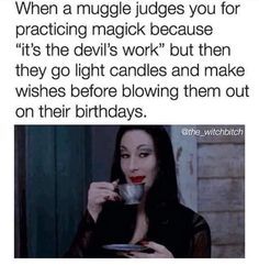 """Thirty-Two Memes & Pics For Anyone Obsessed With Halloween - Funny memes that """"GET IT"""" and want you to too. Get the latest funniest memes and keep up what is going on in the meme-o-sphere. Funny Spiritual Memes, Funny Quotes, Funny Memes, Jokes, Wiccan Witch, Wicca Witchcraft, Magick, Witch Meme, Witch Quotes"""
