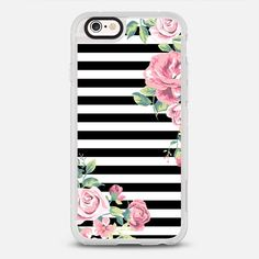 Floral Stripes - protective iPhone 6 phone case in Clear and Clear by Jessica Patel | @casetify