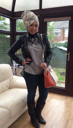 Casual hijab style #hijabfashion #winteroutfits