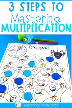 After introducing a multiplication fact to your grade students, give them five different ways to practice it. This set of 60 interactive multiplication games is perfect for giving your…More Maths 3e, Teaching Multiplication, Teaching Math, Multiplication Strategies, Math Fractions, Math For Kids, Fun Math, Math Games, Math Activities