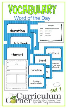 Vocabulary Interactive Notebook WOW Words of the Week