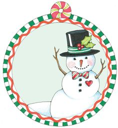 Free personal use printable snowman gift tag from Mary Engelbreit Holiday Gift Tags, Christmas Snowman, Christmas Holidays, Christmas Crafts, Mary Engelbreit, Christmas Pictures, All Things Christmas, Free Printable Gift Tags, Origami