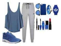 """""""Untitled #192"""" by elsakaram ❤ liked on Polyvore featuring NIKE, RVCA, Dolce&Gabbana, adidas, Maybelline and Smashbox"""