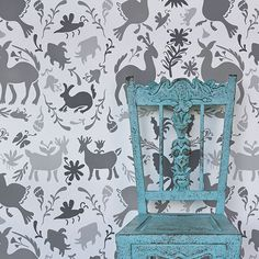 Mexican Otomi Pattern Allover Wall & Furniture Stencil | Royal Design Studio