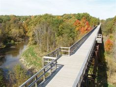 The Mill Creek Trestle in Fall looking north.
