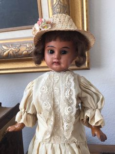 RARE Antique 1894 Armand Marseille Black African American Bleuette Pal Doll   eBay