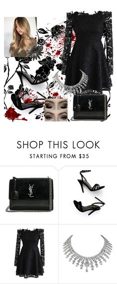 """""""I'm in love with this necklace"""" by sanarice ❤ liked on Polyvore featuring Yves Saint Laurent, LULUS and Chicwish"""