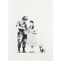 Fine Art : Banksy - Stop and Search | Blouin Boutique | Doyle New York