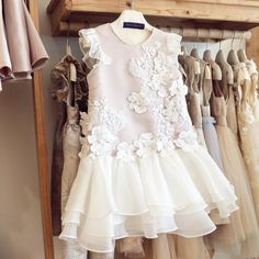 The perfection of 'Once Upon A Fairy Tale' dress Store : Ruko Vila Bukit Mas RB 10 Surabaya Baby Girl Party Dresses, Little Dresses, Little Girl Dresses, Girls Dresses, Flower Girl Dresses, Little Girl Fashion, Kids Fashion, Dress Anak, Baby Dress Design
