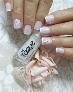 Uñas De Flores Y Puntos (5) Shellac Nails, Acrylic Nails, Cute Nails, Pretty Nails, Nails For Kids, Nail Art Videos, Diy Nail Designs, Silver Nails, Beautiful Nail Designs