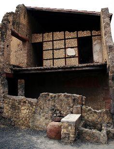 View of the remains of the Casa dell'Atrio Corinzio in Herculaneum