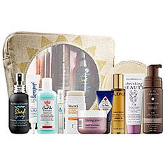 Play with products from Sephora's top brands to tan, style, protect, soothe, scent, and relax this summer. This comprehensive collection of summer products gives nourishment to the skin, hair, lips, and body and provides all you need for a bountiful, beautiful summer. The original beach bag fits all the products so they can be carried in style wherever summer may take you.