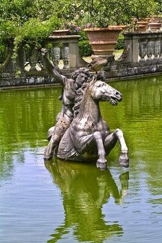 Beautiful Art in Boboli Gardens, Florence, Italy