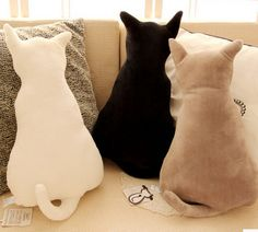 FD2241 Creative Cat Kitten Back Soft Cushions Pillows Home Decor Gift ~3 Colors~