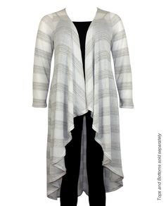 New Arrival Plus Size Fashions!  $13 Long Striped Cardigan with Metallic Lurex.  from www.JasmineUSAClothing.Com  Click Here:  http://www.jasmineusaclothing.com/osc/products_new.php