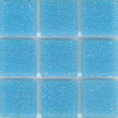 Mosaic glass tile modwalls opaque blue Brio Color Cerulean