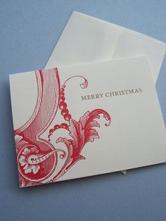 Beautiful and stylish letterpress Christmas cards.  Set of 6 for $14 from Lunalux