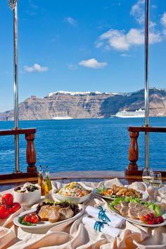 Santorini Sailing, lunch on board