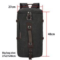 Homem de grande capacidade bolsa de viagem saco de montanhismo mochila homens sacos de lona bolsa de ombro balde 012 em Mochilas de Bagagem & Bags no AliExpress.com | Alibaba Group