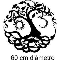 Vinilo Pared Árbol De La Vida Sol Y Luna Wall Stickers - $ 220,00 en Mercado Libre