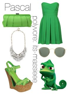"""Pascal"" by its-massieee ❤ liked on Polyvore featuring Disney, TFNC, Bamboo, BaubleBar, Nina and Ray-Ban"