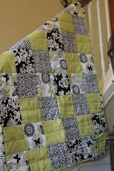 Adorably modern! Black and Green Butterfly nursery bedding by HipNewMom on Etsy, $45.00
