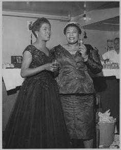 Sarah Vaughan and Ella Fitzgerald, ca. 1950