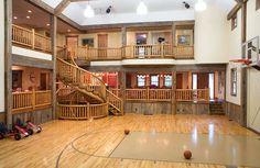 Home Gym Design Layout Basketball Court Super Ideas Home Basketball Court, Basketball Bedroom, Basketball Floor, Basketball Shoes, Basketball Legends, Sports Court, Louisville Basketball, Basketball Birthday, Basketball Coach