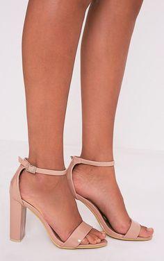 a87871c87ef May Nude Patent Block Heeled Sandals. Strap HeelsShort HeelsHigh ...
