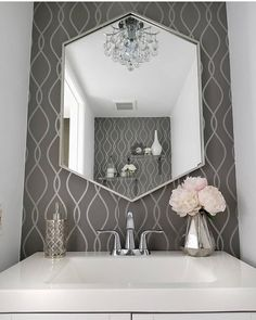 """724144ab3 Interior Design   Home Decor on Instagram  """"Love what Kathy from   lovefabdecor did with my Inspire Me! Home Decor removable wallpaper in  partnership with ..."""