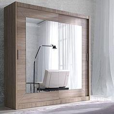 Modern Bedroom Wardrobe Sliding Door Alfa Oak Sonoma 200cm sold by Arthauss