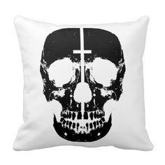 humanskull throw pillow by ZachAttack design