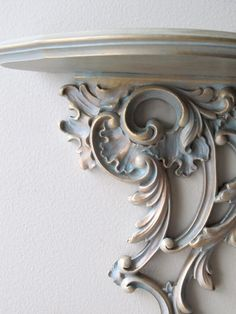 ornate gold filigree vintage wall shelf verdi gris by ionesAttic, $46.00